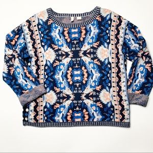 Anthropologie Moth Cabine Pullover Kaleidoscope